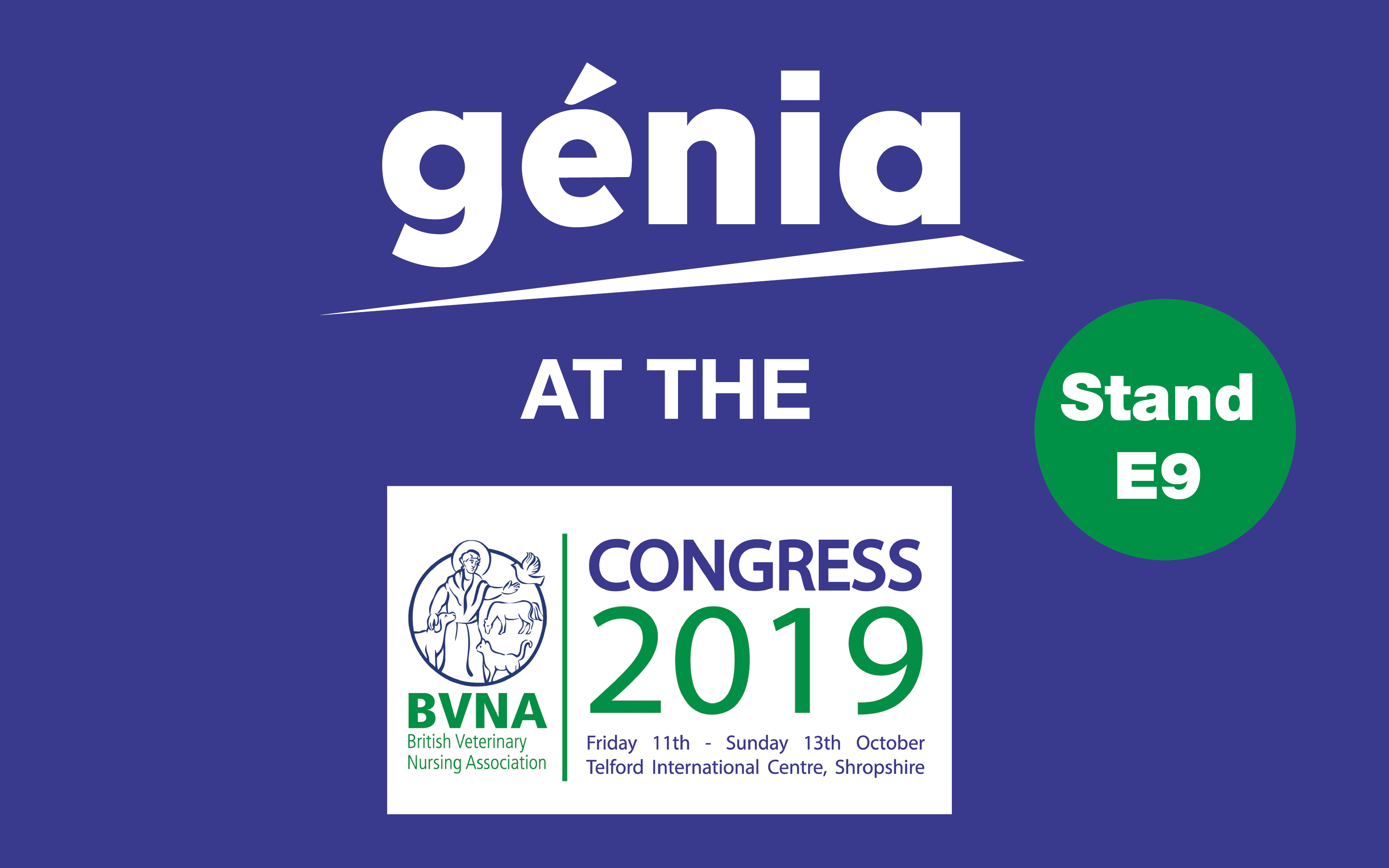 Genia will be present on the BVNA !